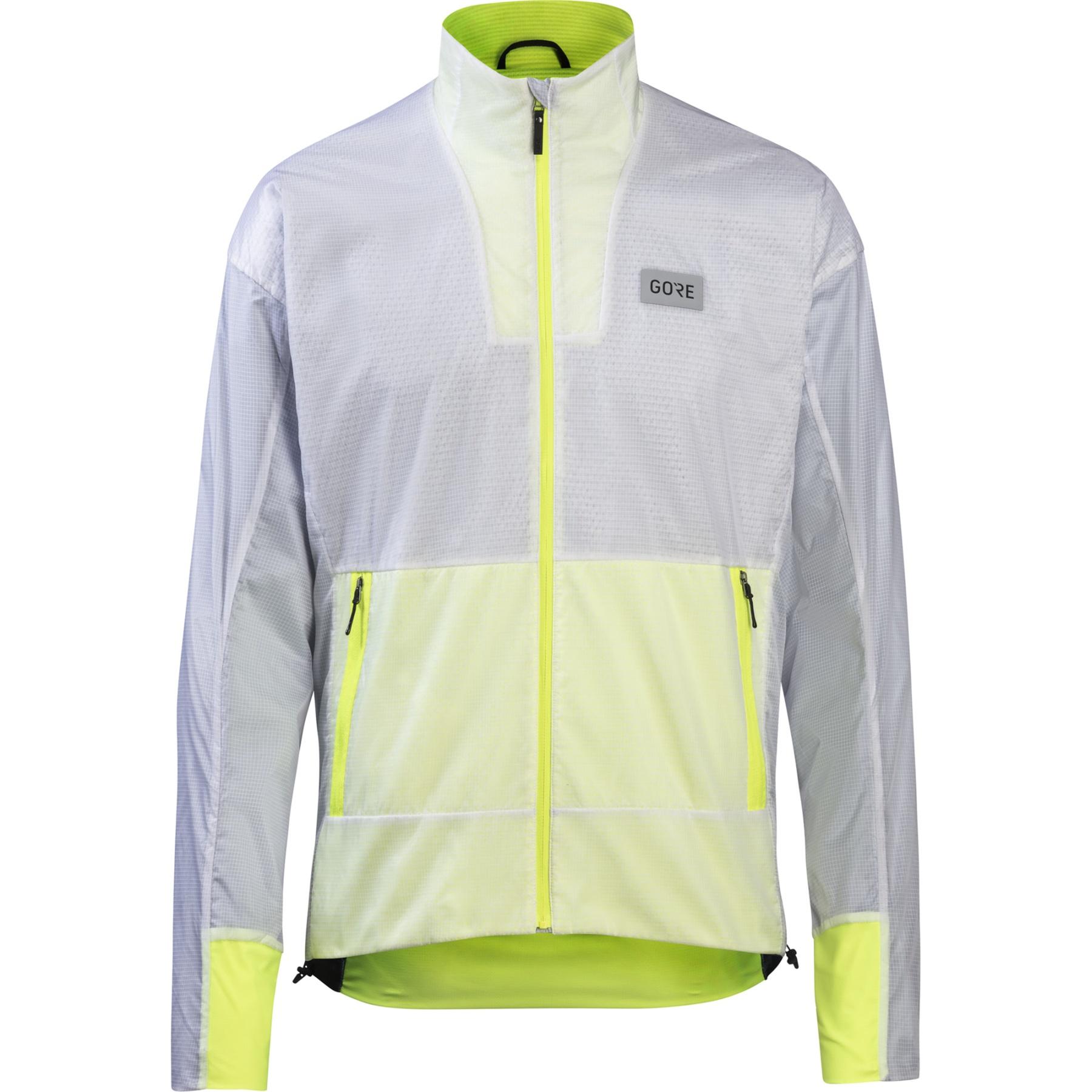 Foto de GORE Wear Drive Chaqueta Running - white/neon yellow 0108