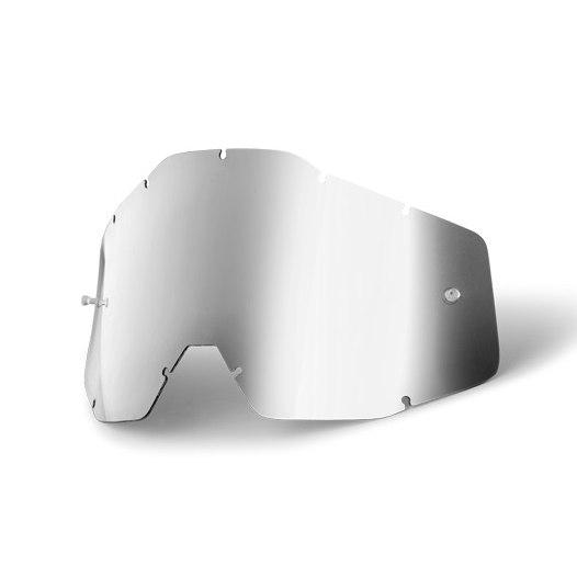 100% Youth Goggle Anti Fog Mirrored Lente de repuesto - Silver Mirror