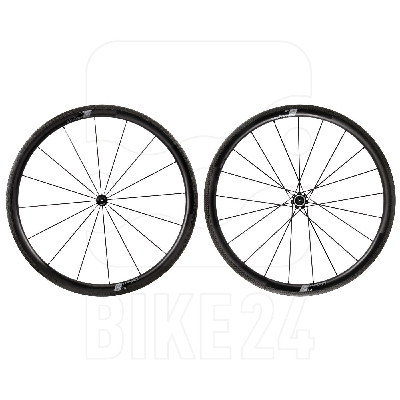 Vision SC 40 Carbon Laufradsatz - Tubeless Ready - Drahtreifen - QR