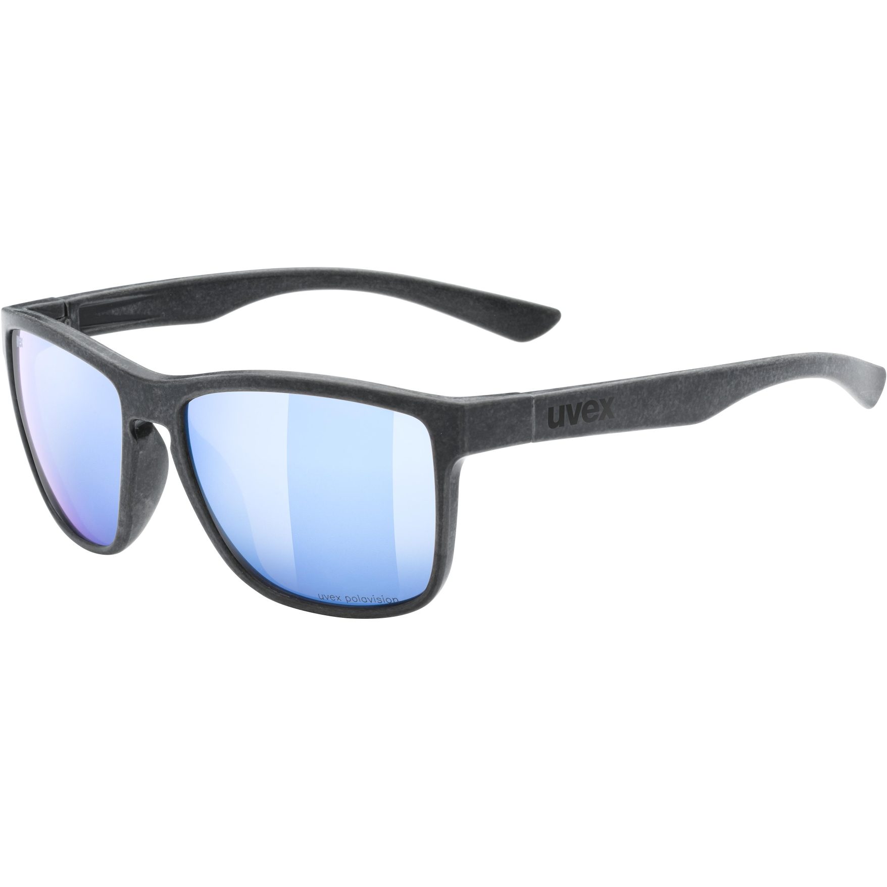 Uvex lgl ocean 2 P Brille - black mat/polavision mirror blue