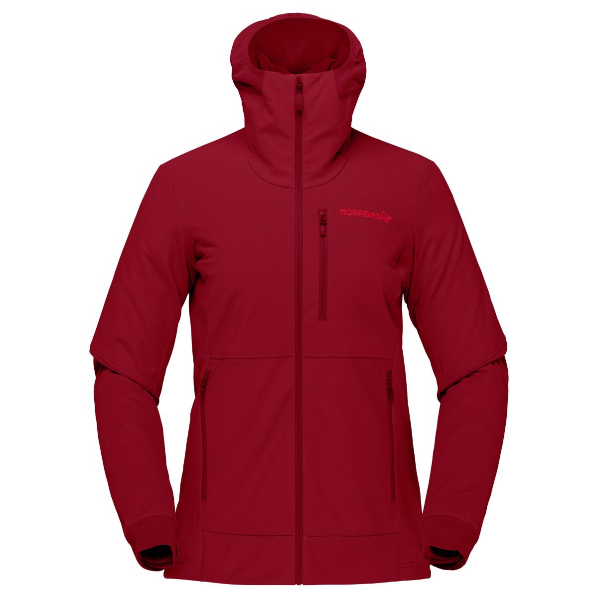 Norrona hiloflex200 Hood Jacket Women - Rhubarb