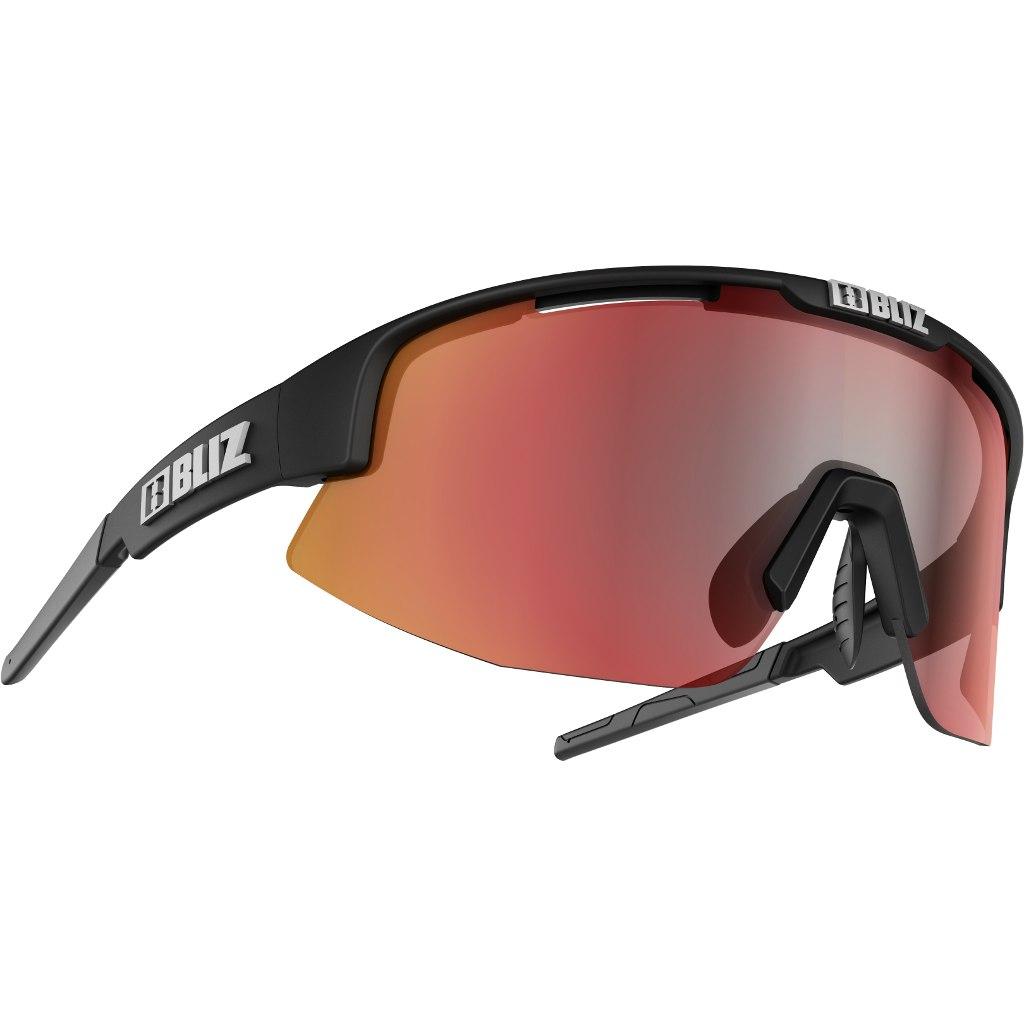 Bliz Matrix Glasses - Matt Black / Brown with Red Multi