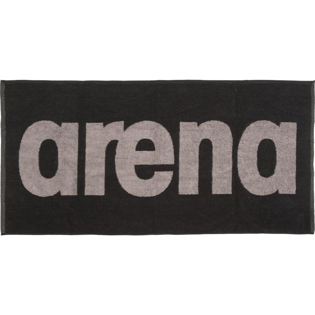 arena Gym Soft Towel - black-grey