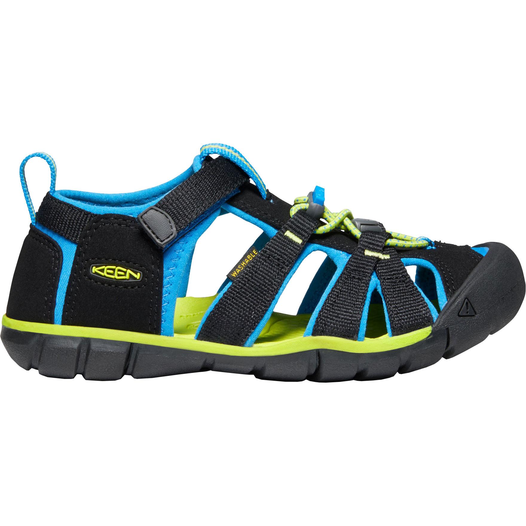 KEEN Seacamp II CNX Kinder-Sandale - Black / Brilliant Blue
