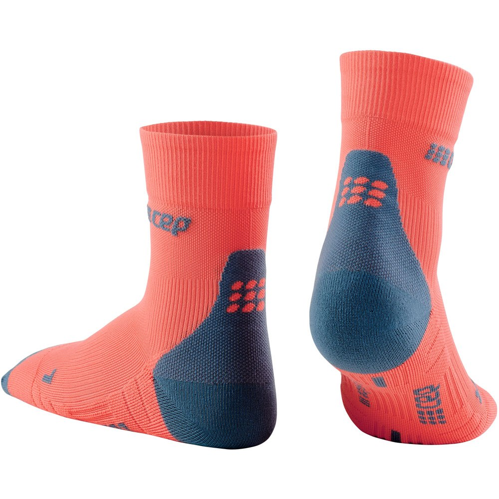 Image of CEP Compression Socks Short 3.0 - coral/grey