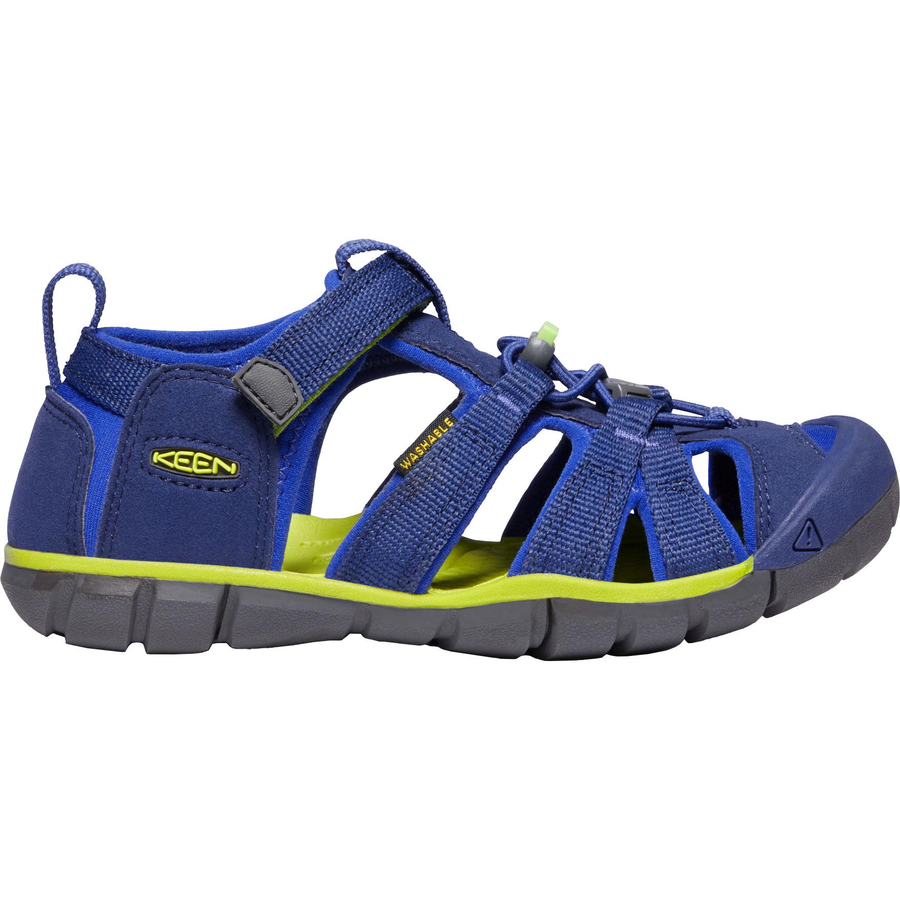 KEEN Seacamp II CNX Kids Sandal - Blue Depths / Chartreuse