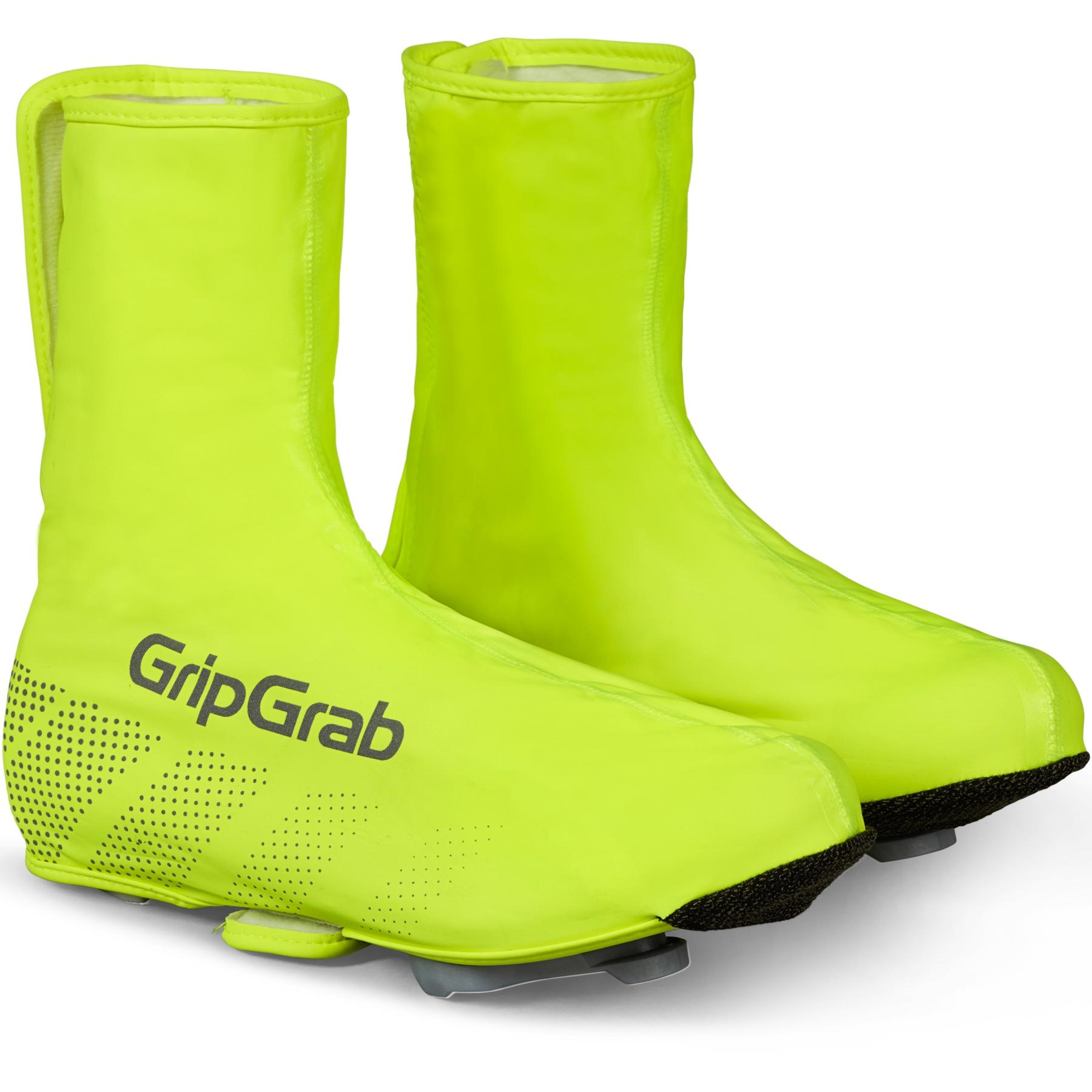Foto de GripGrab Ride Hi-Vis Cubrezapatillas impermeable - Yellow Hi-Vis