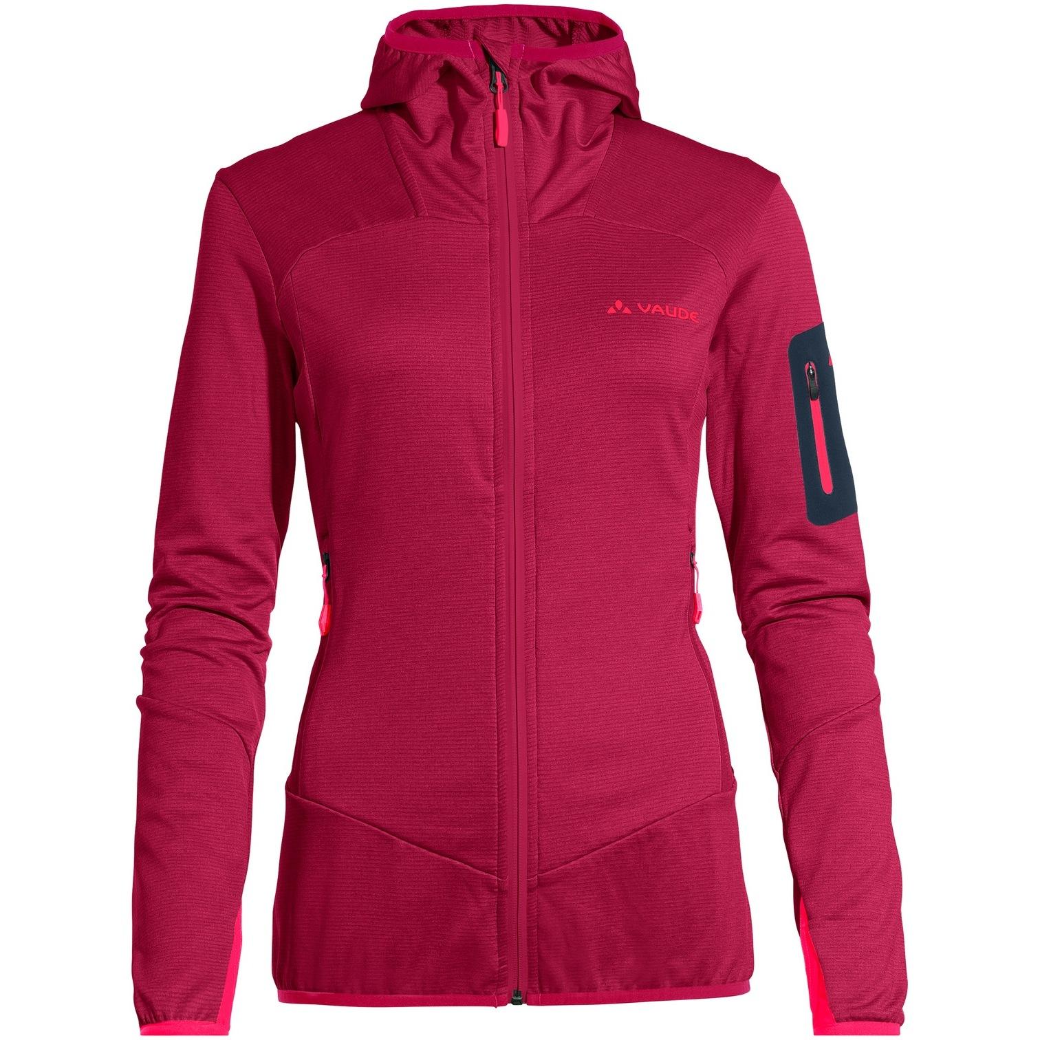 Vaude Women's Monviso Fleece Jacket - crimson red