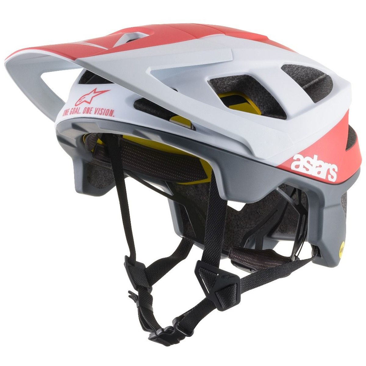 Alpinestars Vector Tech Polar MTB Helmet - white/red matte