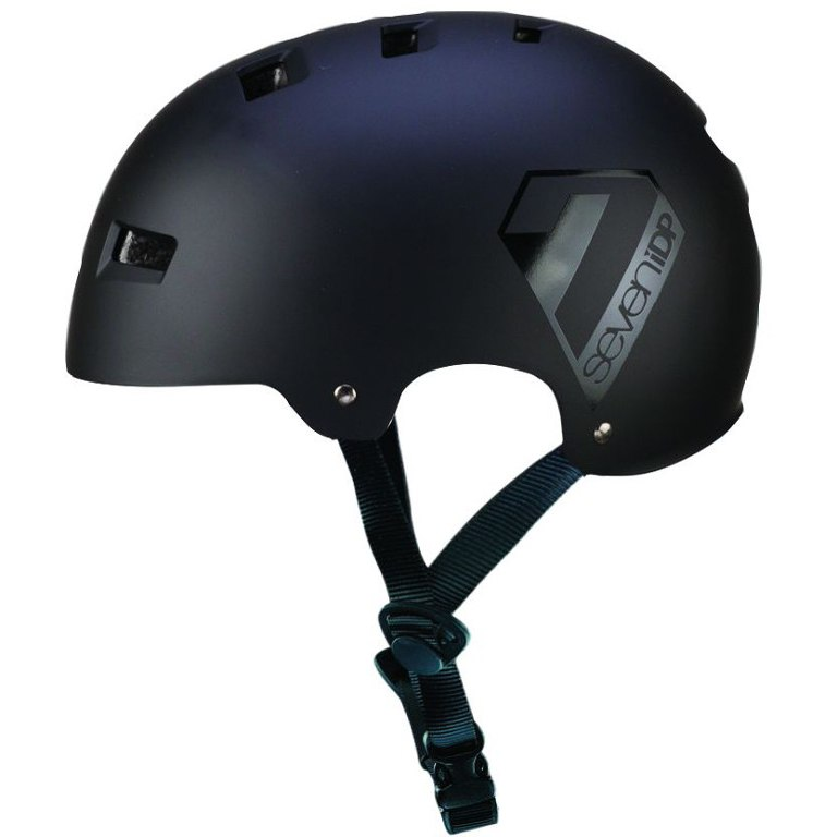 7 Protection 7iDP M3 Helmet 2018 - matt black/gloss black graphics