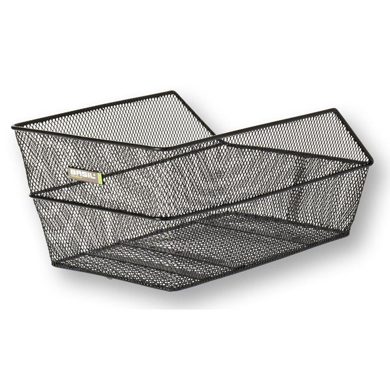 Image of Basil Cento Rear School Bag Basket - black