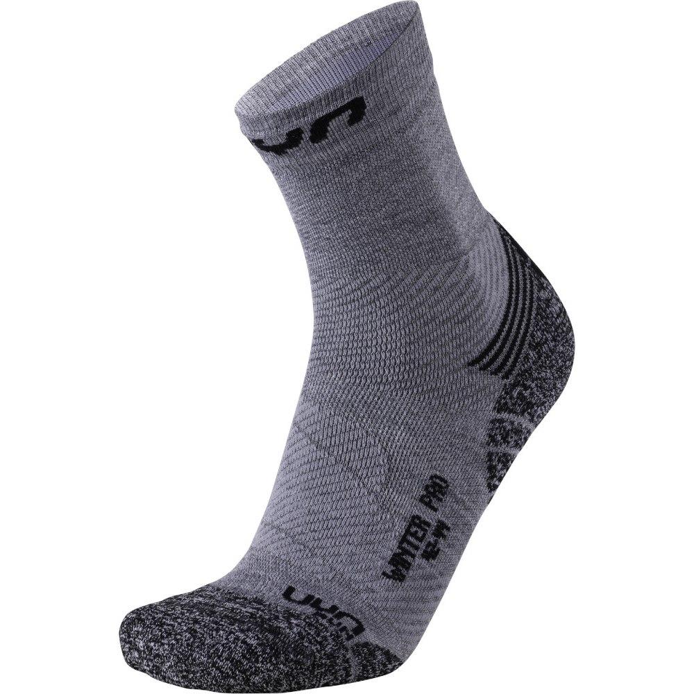 UYN Running Winter Pro Run Socks - Grey/Black