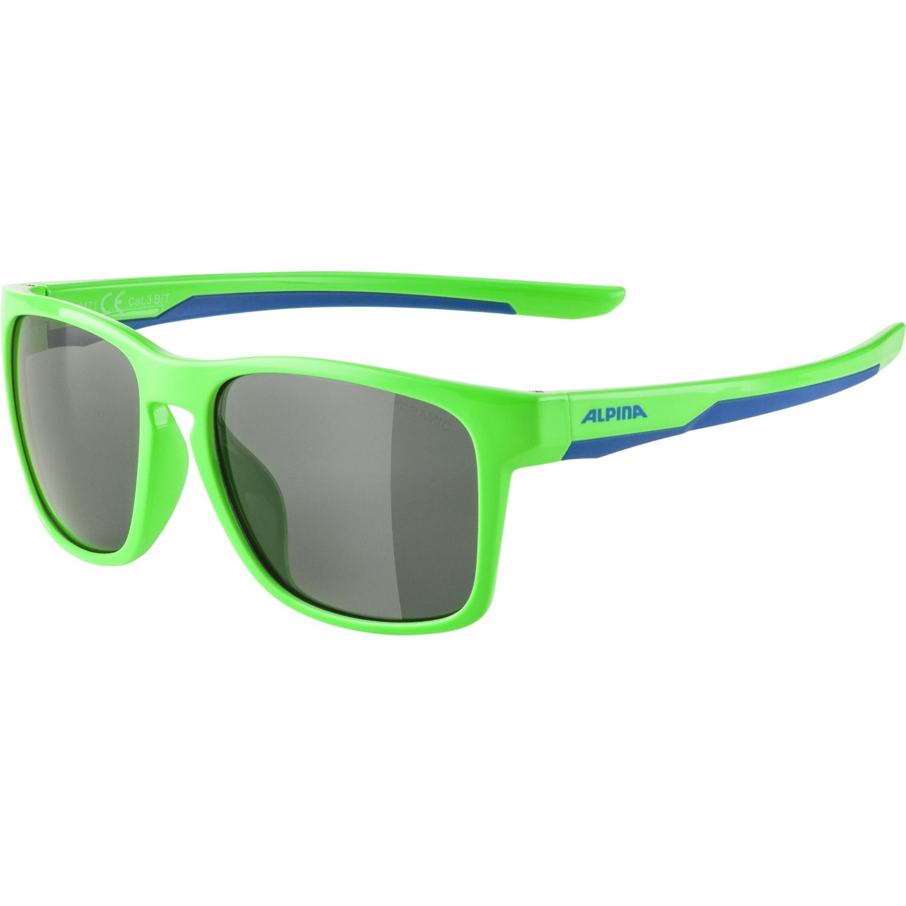 Alpina Flexxy Cool Kids I Glasses - neon green-blue / black