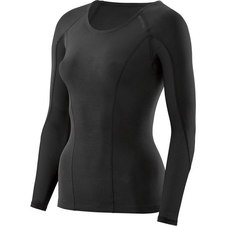 SKINS DNAmic Compression Longsleeve Shirt Women - Black/Black