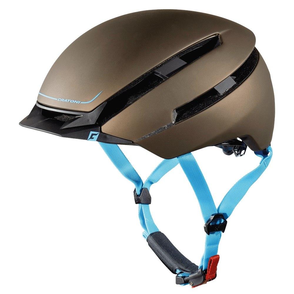 CRATONI C-Loom Helmet - brown-blue rubber