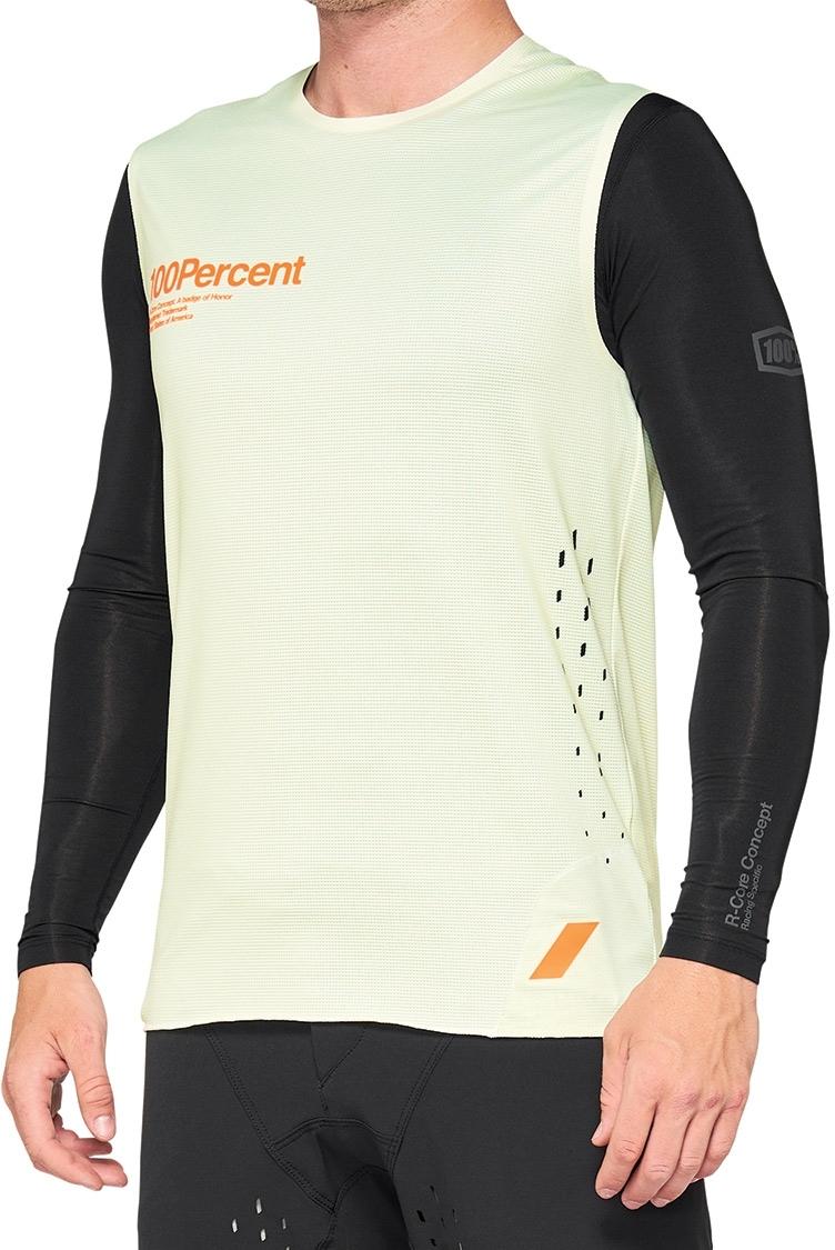 100% R-Core Concept Jersey sin mangas - amarillo