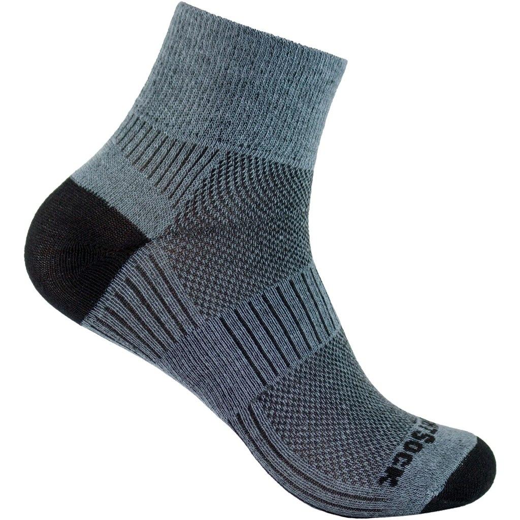WRIGHTSOCK Coolmesh II Quarter Double Layer Socks - grey - 805-04