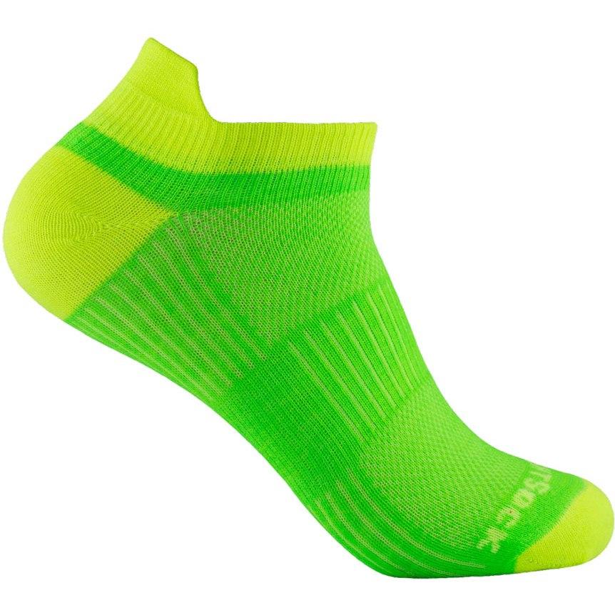 WRIGHTSOCK Coolmesh II Low Tab Double Layer Socks - lemon-lime - 803-33