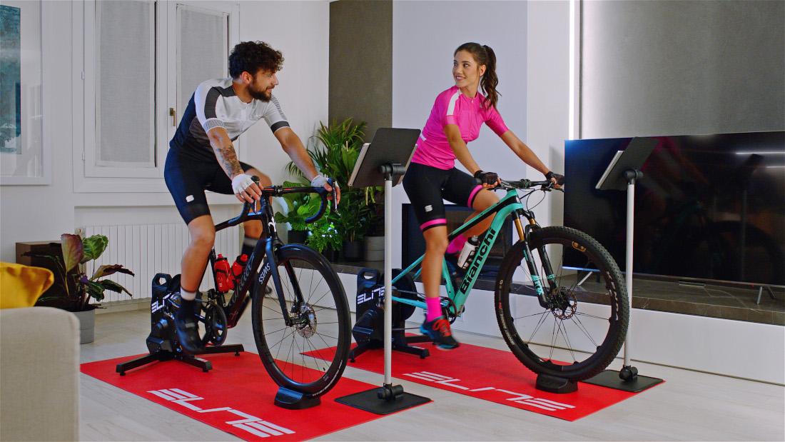 Interaktive Workouts mit den Elite Direct-Drive Trainern und der My E-Training App gestalten.