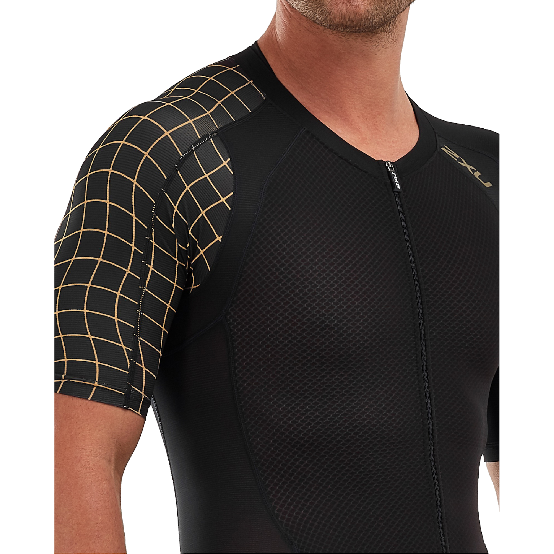 Imagen de 2XU Compression Full Zip Sleeved Trisuit - black/gold