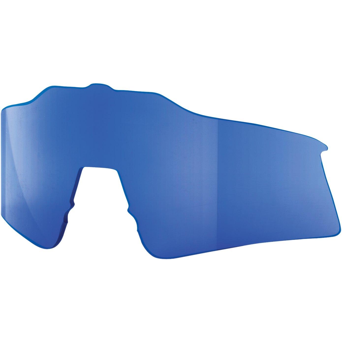 100% Speedcraft Small HiPER Mirror Replacement Lens - HiPER Blue Mirror