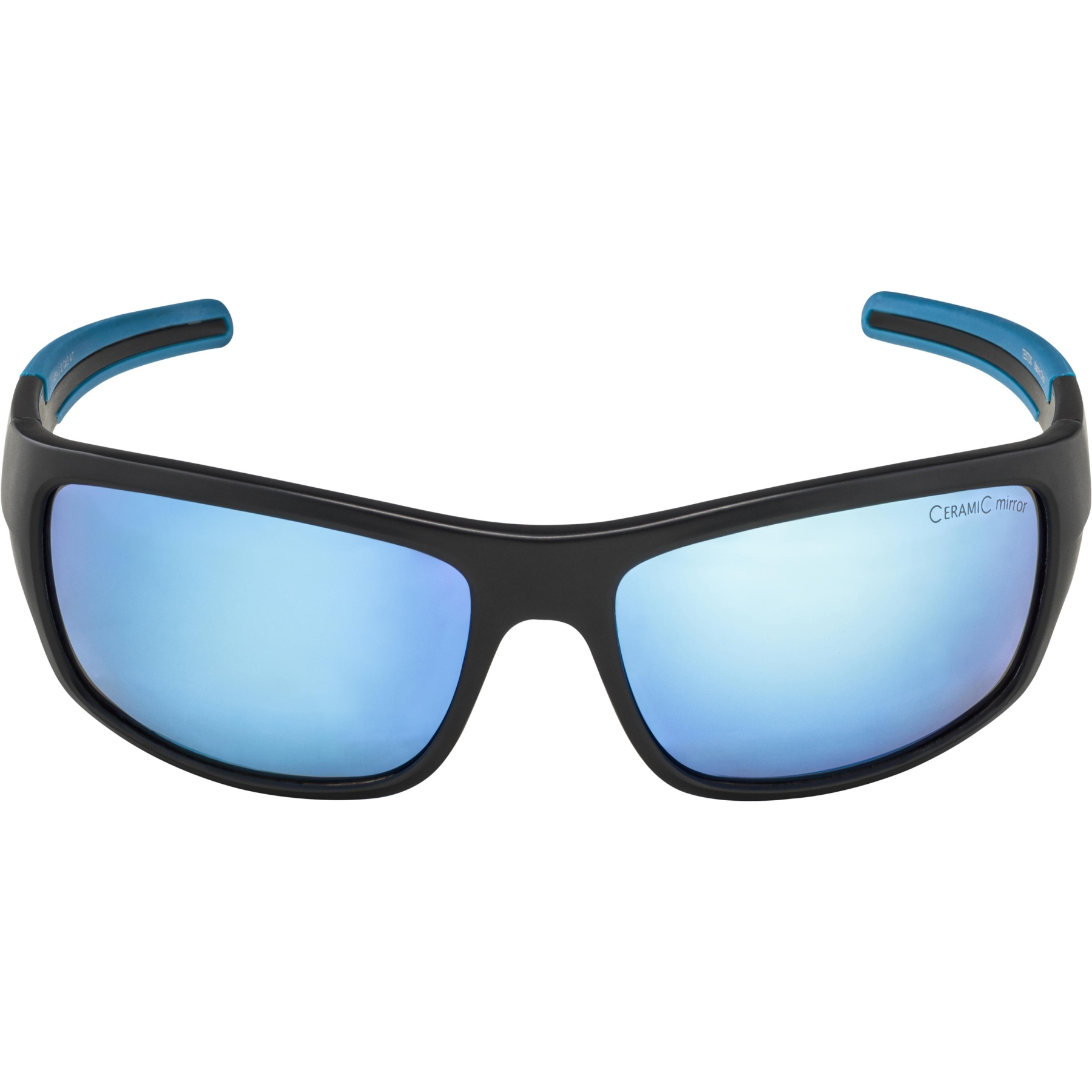Image of Alpina Testido Glasses - black matt-blue / blue mirror