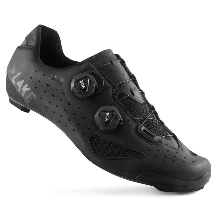 Lake CX238-X Wide Zapatillas Ciclismo Carretera - negro