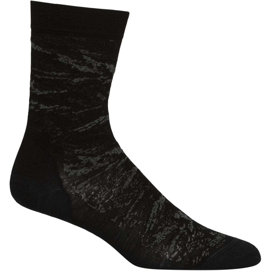 Icebreaker Lifestyle Fine Gauge Crew IB Glacier Damen Socken - Black