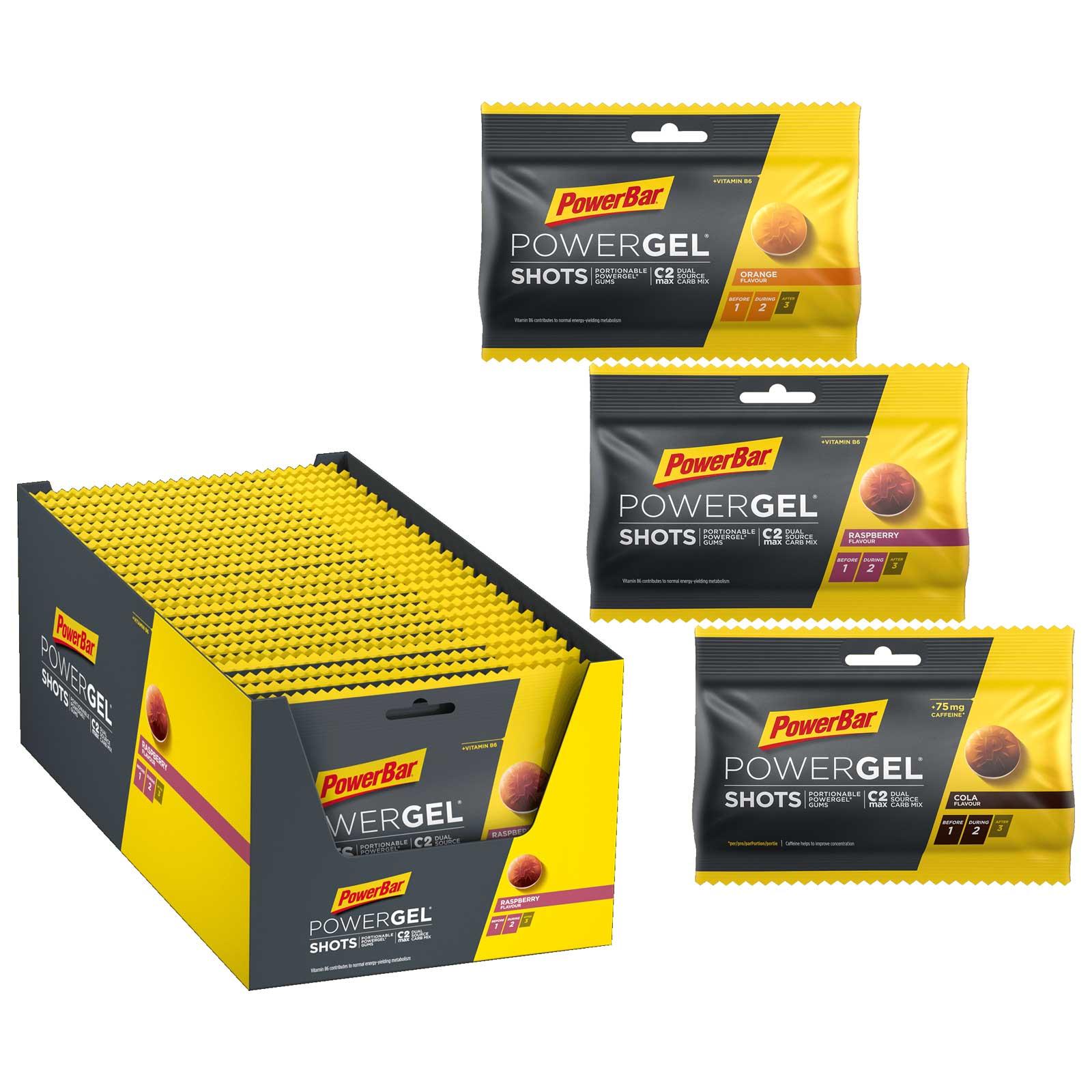 Produktbild von PowerBar PowerGel Shots - Kohlenhydrat-Gummibonbons - 24x60g