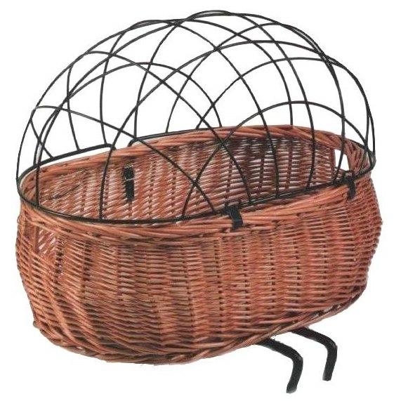 Image of Basil Steel Space Frame for Animal Bike Basket Pluto - black