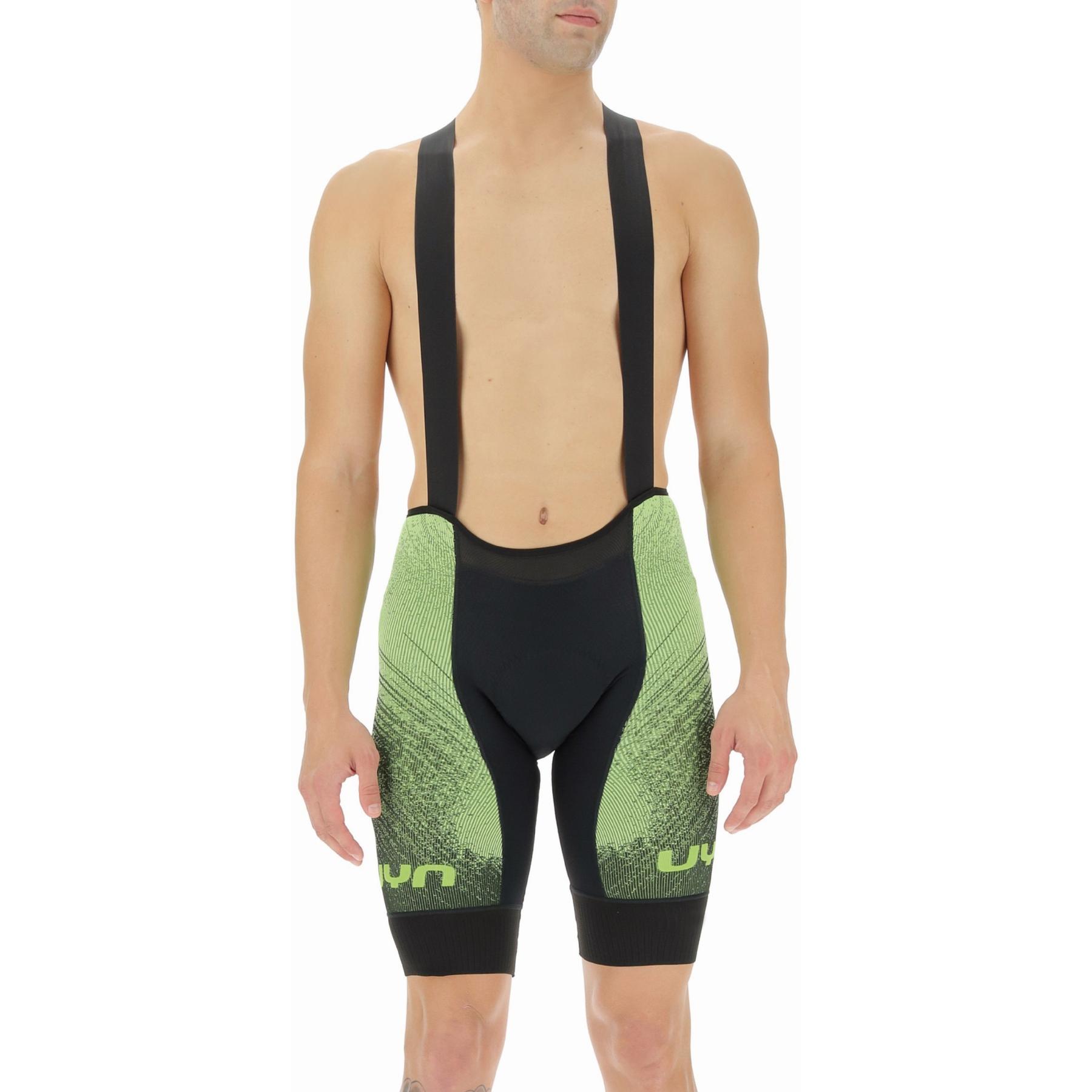 UYN Biking Racefast Man Bib Short - Black/Yellow