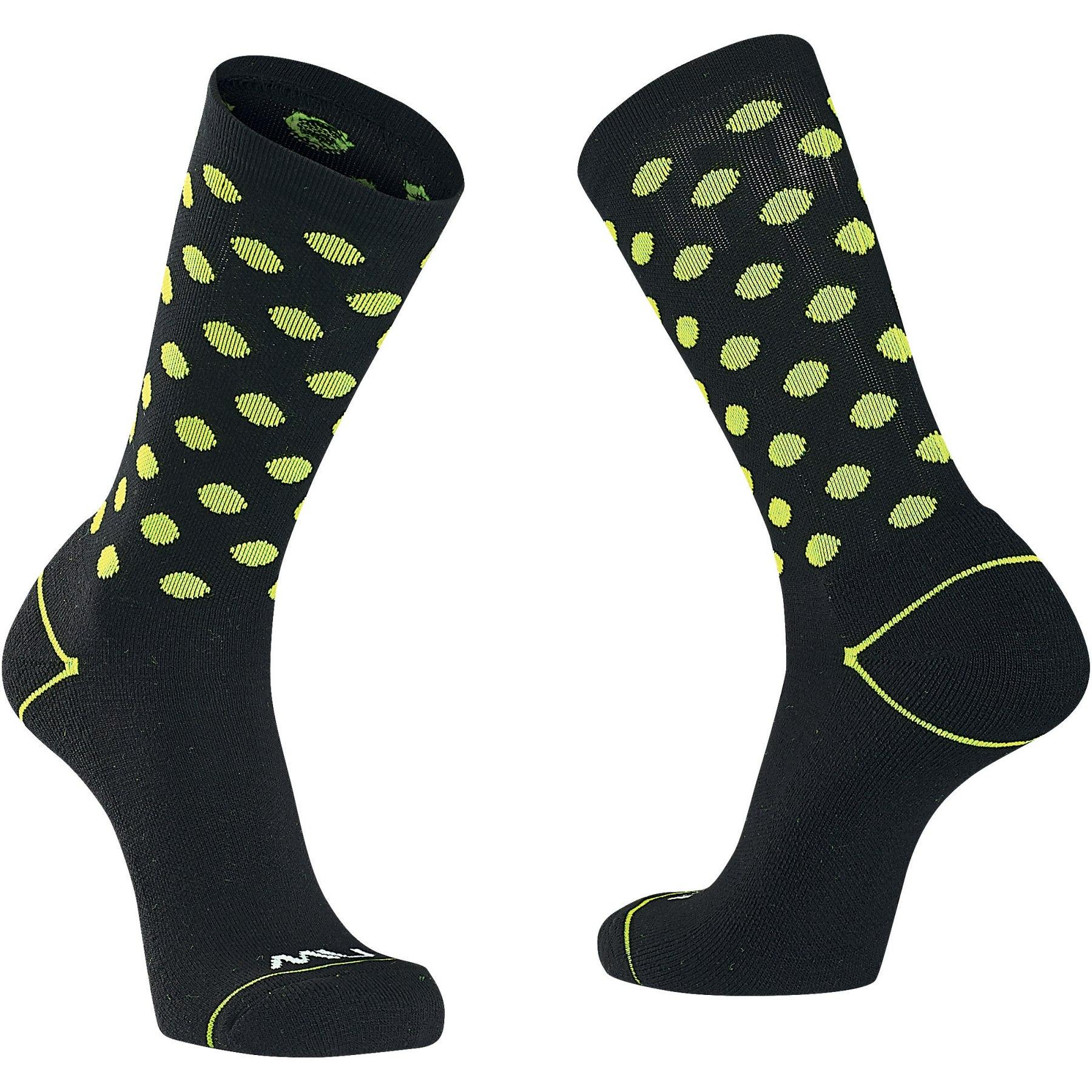 Produktbild von Northwave Core Socken - black/yellow fluo