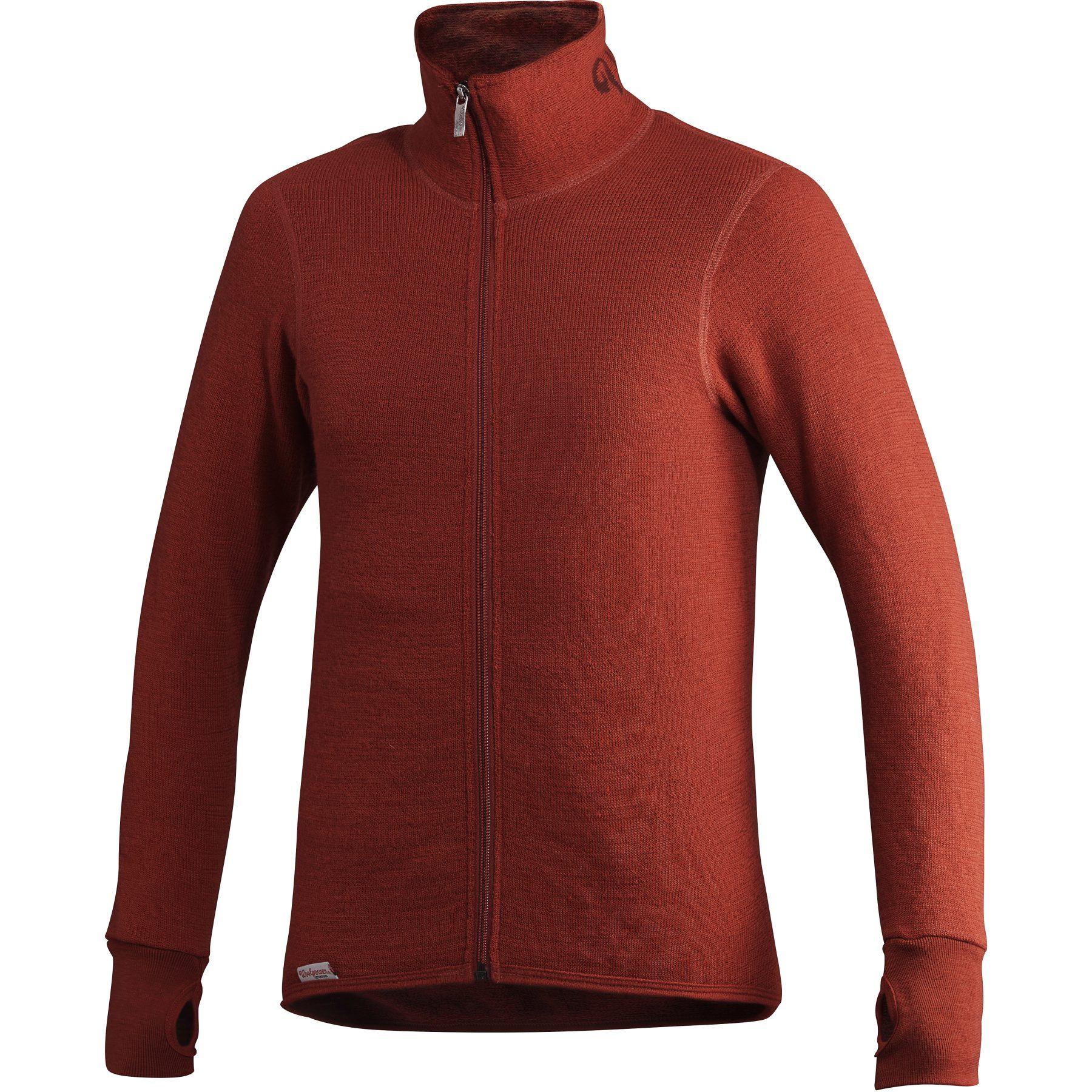 Woolpower Full Zip Thermo-Jacke 400 - autumn red