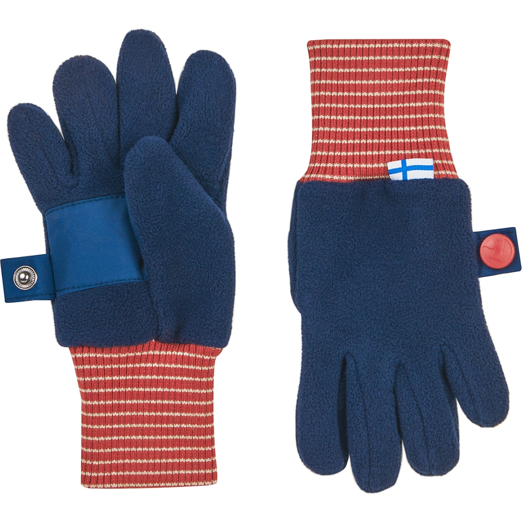 Picture of Finkid SORMIKAS Kids Winter Gloves - navy/red