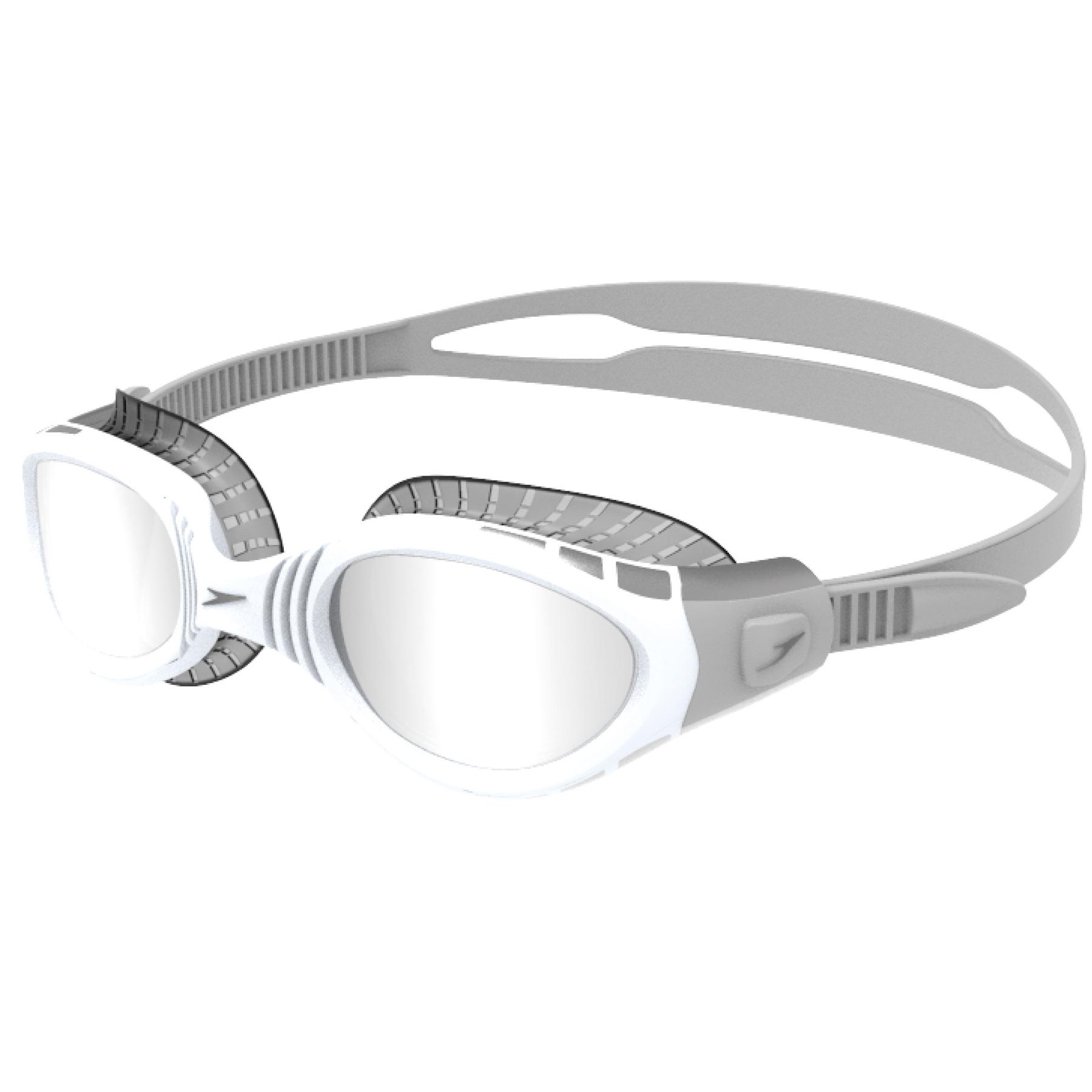 Speedo Futura Biofuse Mirror Flexiseal Cool Grey/White/Silver Schwimmbrille