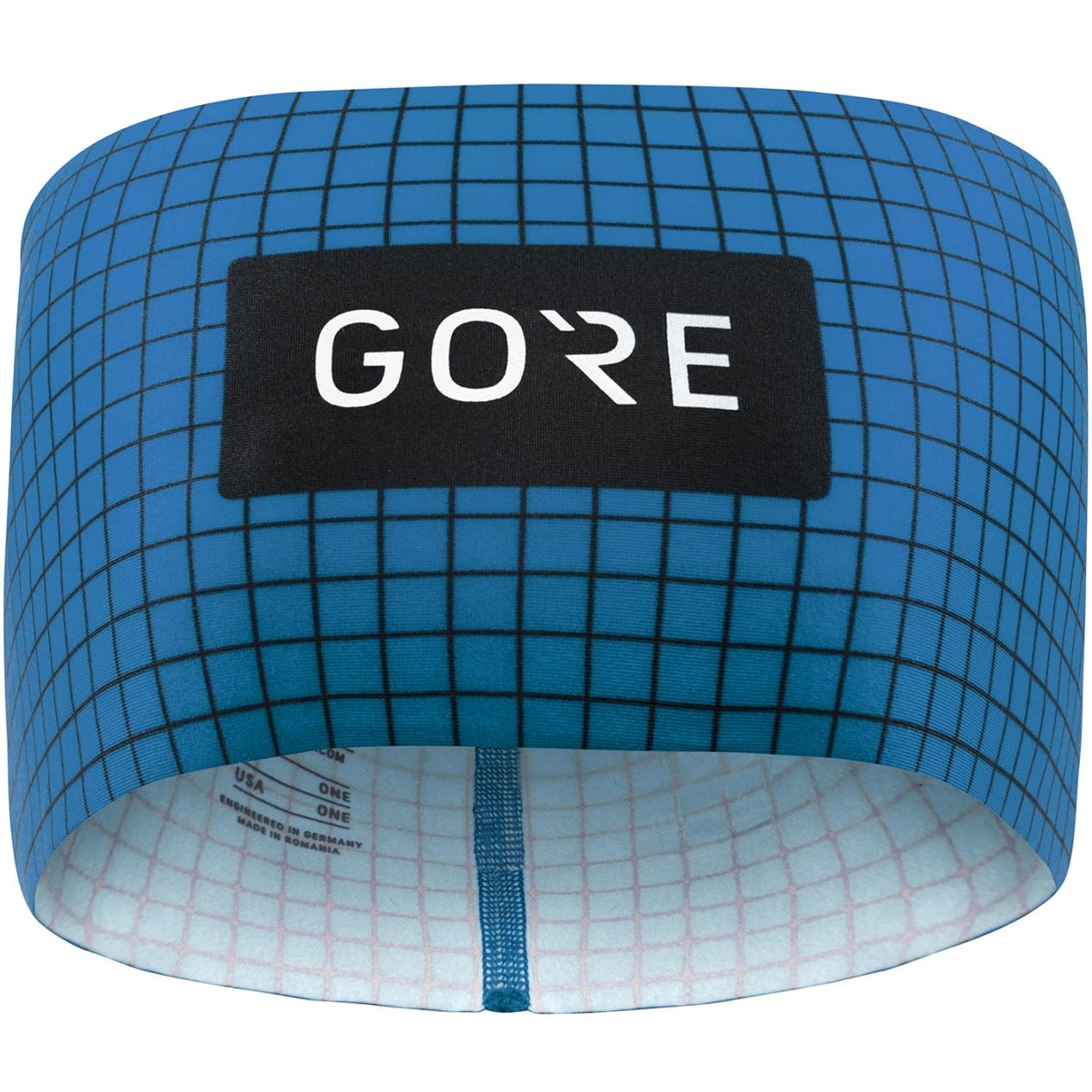 Picture of GORE Wear Grid Headband - sphere blue/orbit blue AZAU
