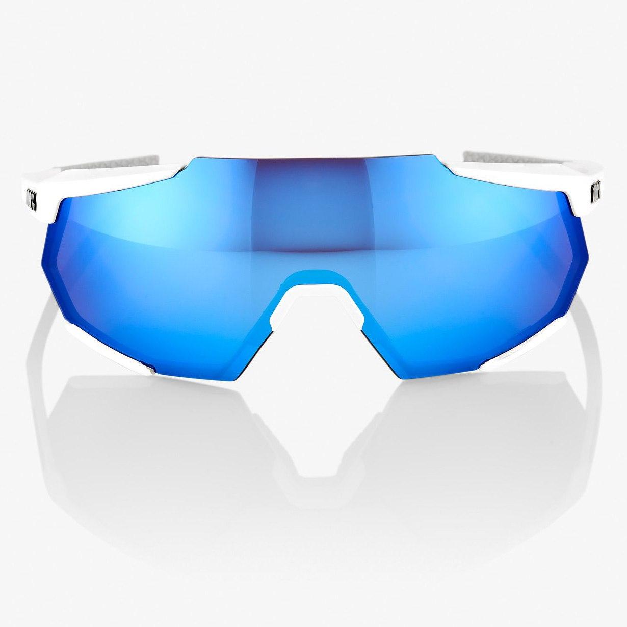 Imagen de 100% Racetrap HiPER Mirror Glasses - Matte White/Blue Multilayer + Clear
