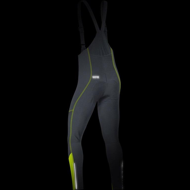 Image of GORE Wear C3 GORE® WINDSTOPPER® Bib Tights+ - black/neon yellow 9908