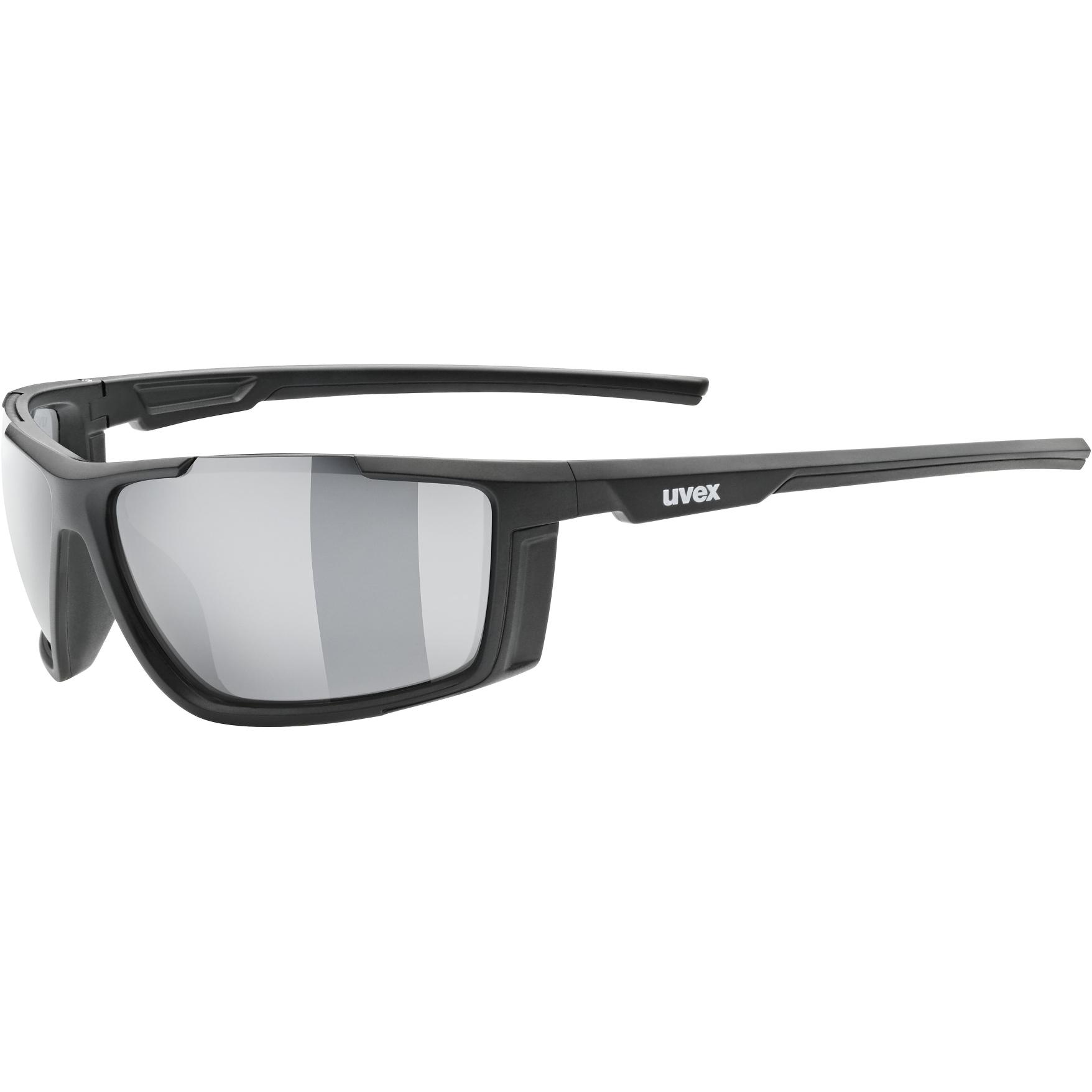 Uvex sportstyle 310 Glasses - black mat/mirror silver