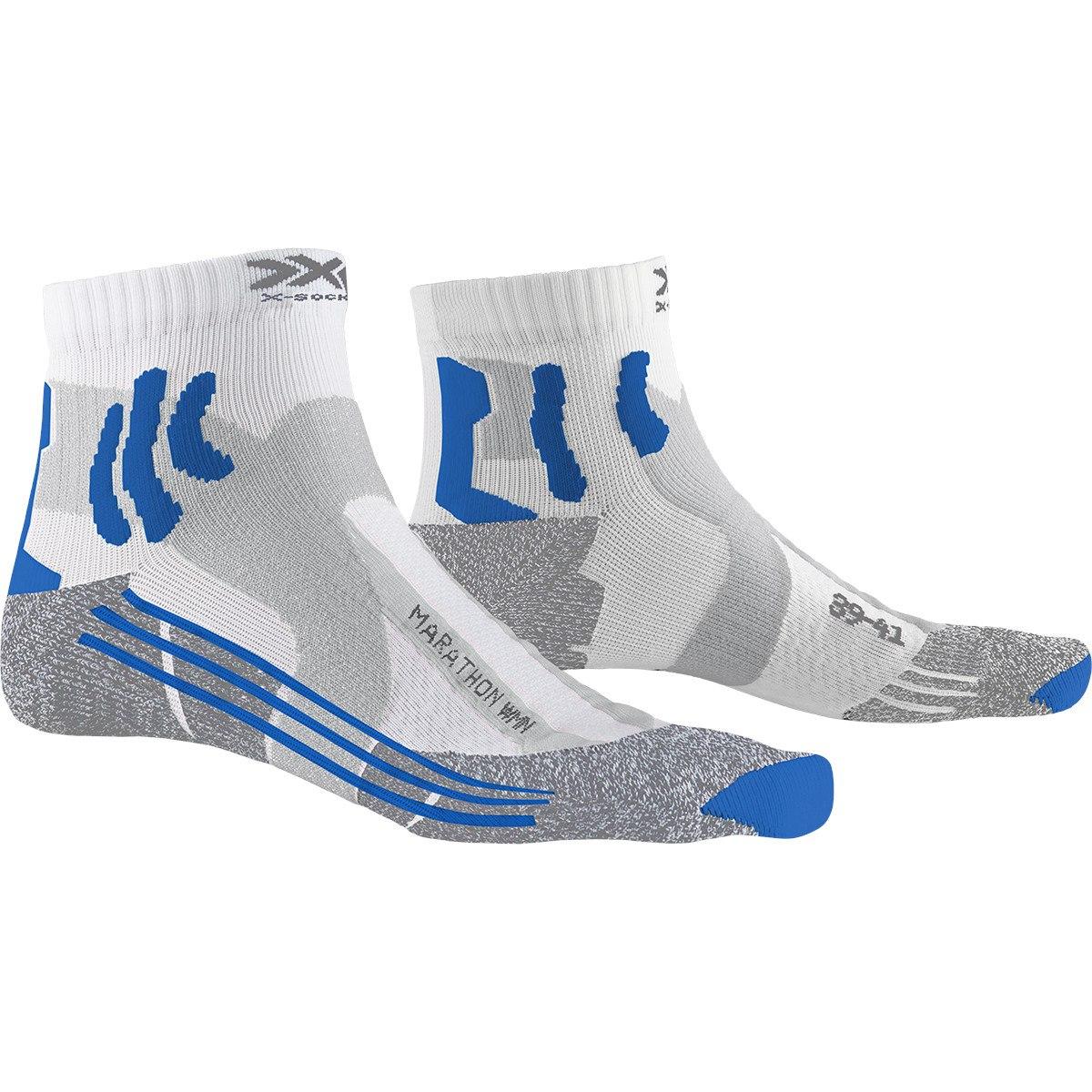 X-Socks Marathon Laufsocken für Damen - white/twyce blue/grey melange