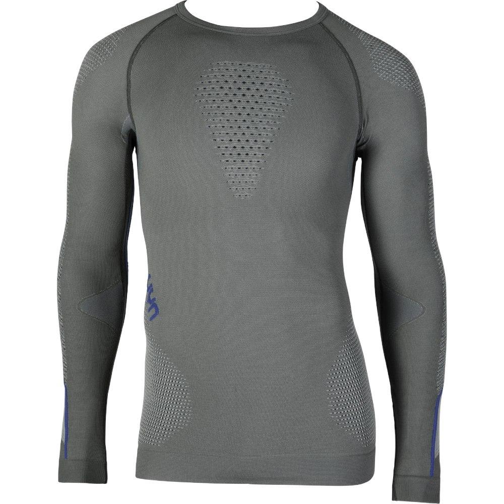 UYN Ambityon Underwear Langarmshirt - Medium Grey/Blue/Royal Blue