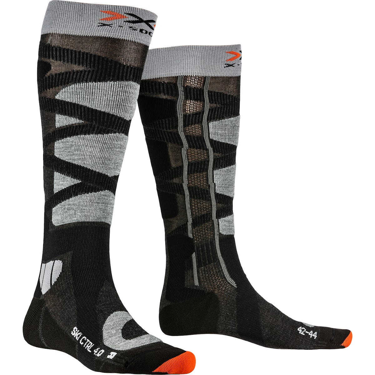 Bild von X-Socks Ski Control 4.0 Socken - anthracite melange/stone grey melange