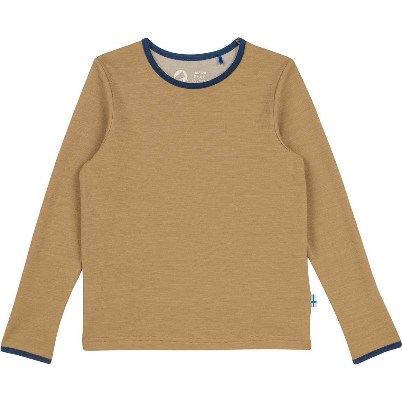 Finkid TAAMO WOOL Kids Longsleeve Shirt - cinnamon/navy