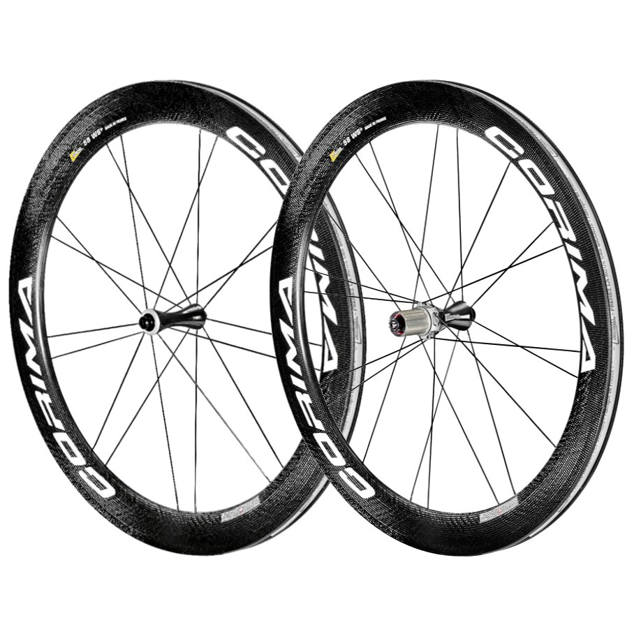 CORIMA 58 WS+ - Carbon Wheelset 28 Inch- Clincher - FW: 9x100mm QR   RW: 10x130mm QR