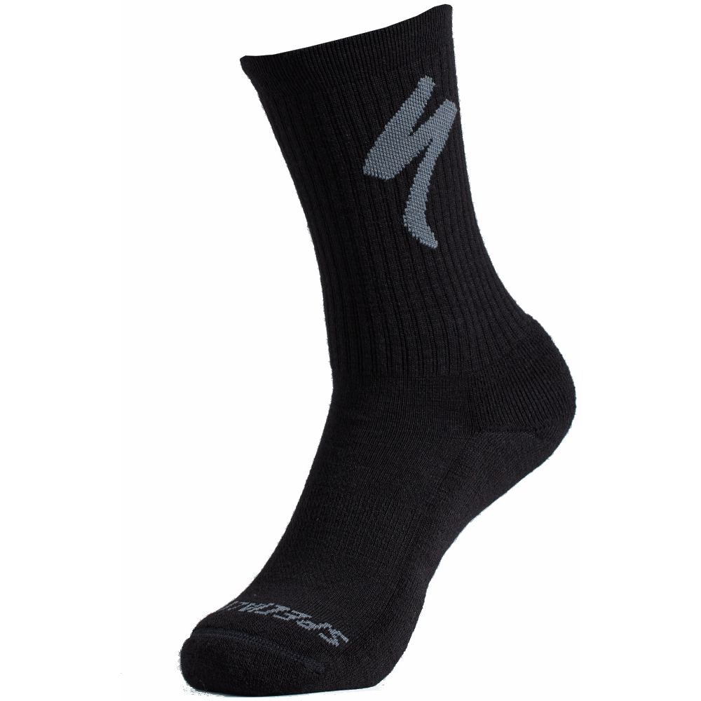 Foto de Specialized Merino Midweight Tall Logo Calcetines - negro