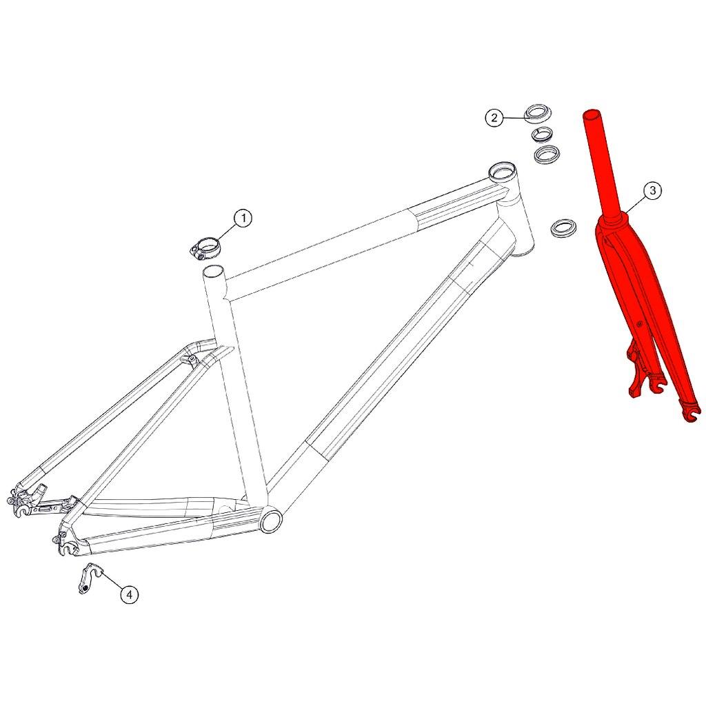 BMC Fork for Alpenchallenge 02 THREE (MY 2018) - 301165 - grey/grey/ref