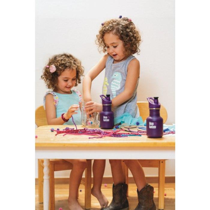 Image of Klean Kanteen 355ml Kid Kanteen Classic - Bottle for Kids - with Sport Cap 3.0 - grape jelly (matte)