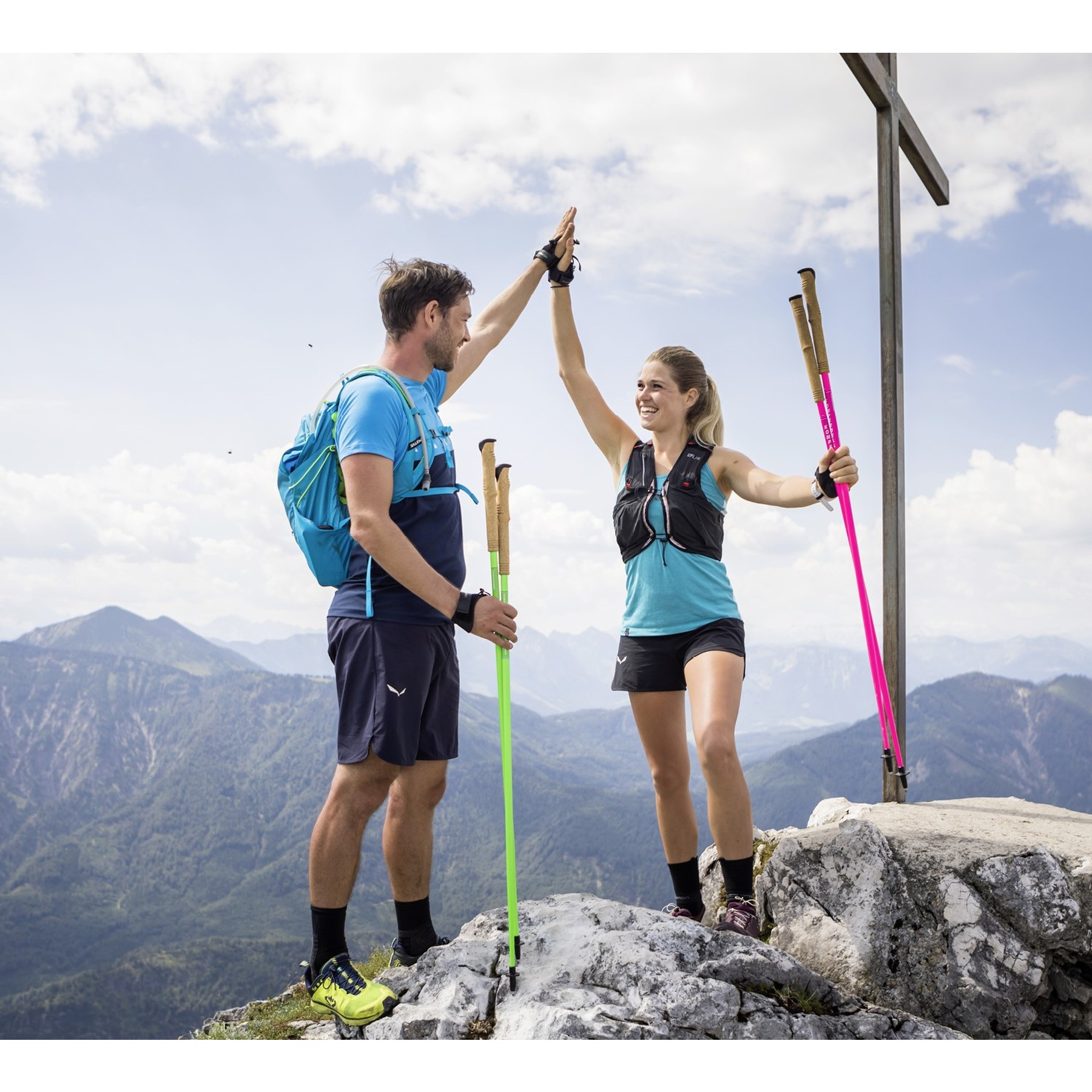 Bild von Komperdell Carbon C1 Team Green Fixed Length Trailrunning & Trekkingstöcke - grün