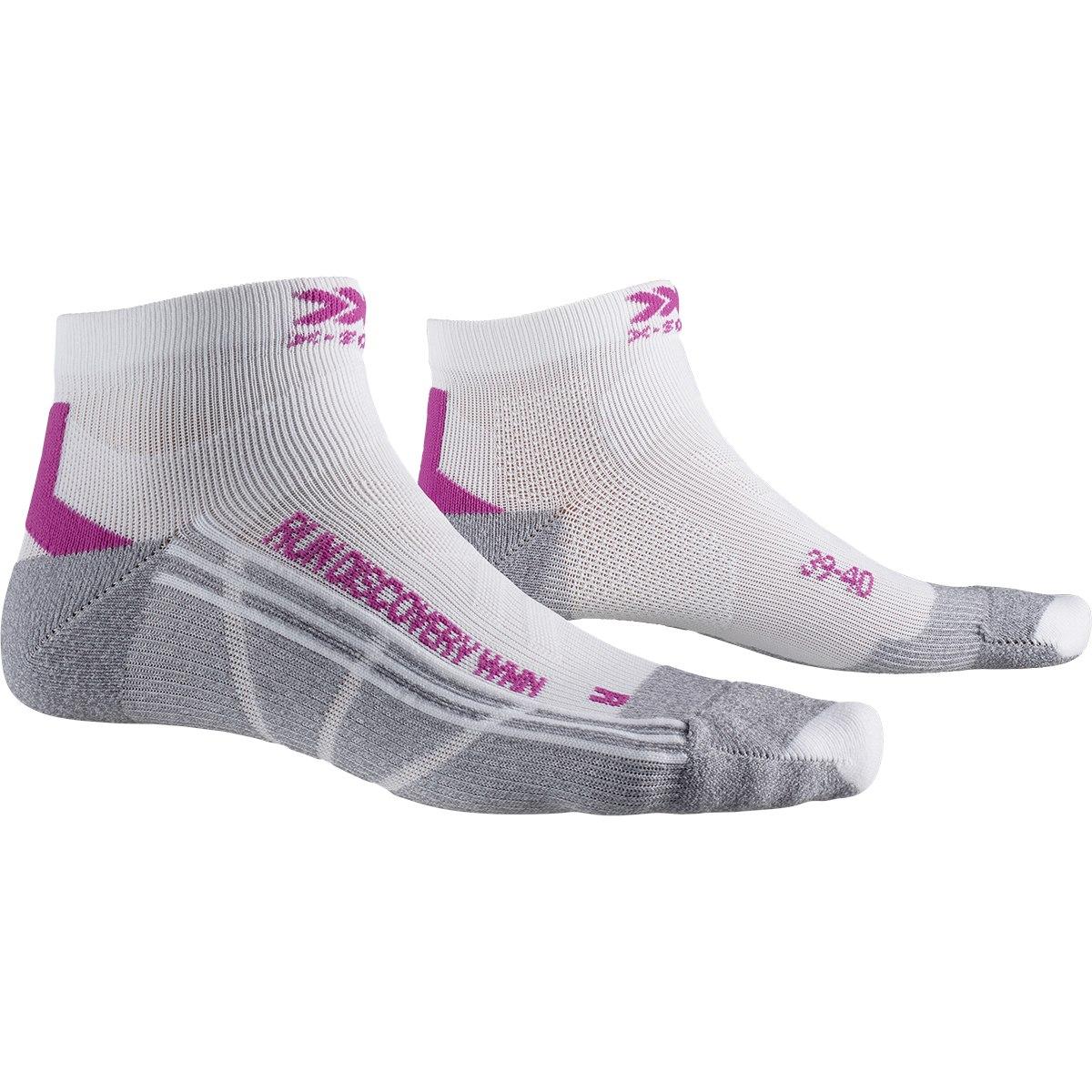 X-Socks Run Discovery Damen Laufsocken - white/twyce purple/grey melange
