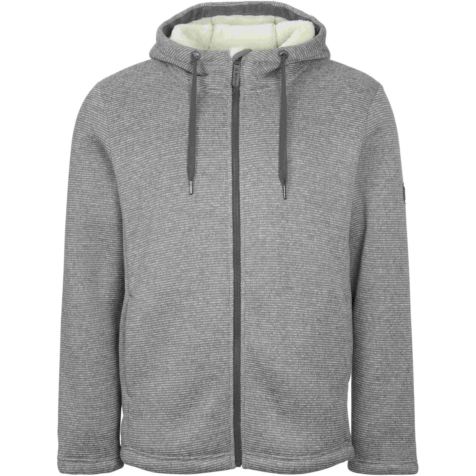 Elkline NO IDEA Fleece Jacket - lightgrey - offwhite